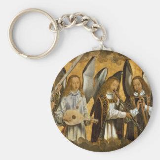 Angel Musicians c1480 Keychain