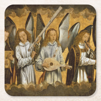 Angel Musicians c1480 Square Paper Coaster
