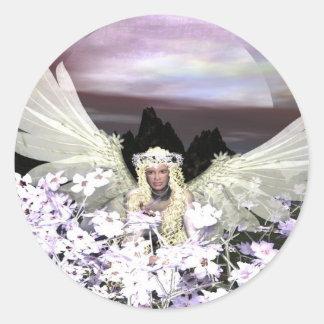 Angel My Guardian Round Sticker