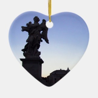 ANGEL NEAR VATICAN, ON PONTE SANT' ANGELO CERAMIC ORNAMENT