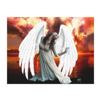 Angel of anguish Canvas Canvas Prints