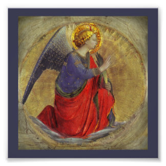 Angel of Annunciation by Fra Angelico Photo Print
