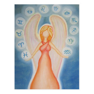 Angel of astrology postcard