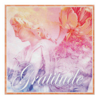 Angel of Gratitude - count your blessings Perfect Poster