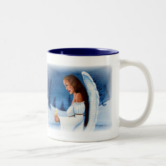 """Angel of Hope"" Two-Tone Coffee Mug"