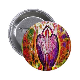 angel of love 2 inch round button