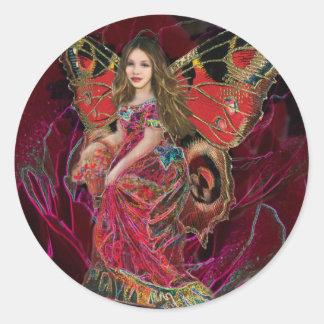 Angel of Love Round Sticker