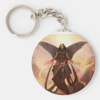 Angel of Mercy Basic Round Button Keychain