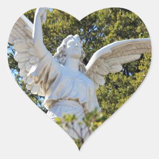 Angel of Revelation Heart Sticker
