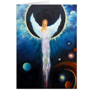 """Angel Of The Eclipse"" Fine Art Greeting Card"