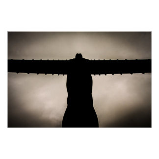 Angel of the North silouette Poster