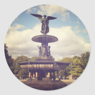 Angel of the Waters, Central Park, New York City Round Sticker
