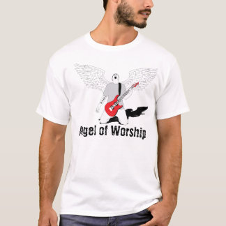 Angel of Worship - Red Guitar T-Shirt