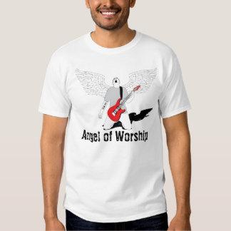 Angel of Worship - Red Guitar Tee Shirt