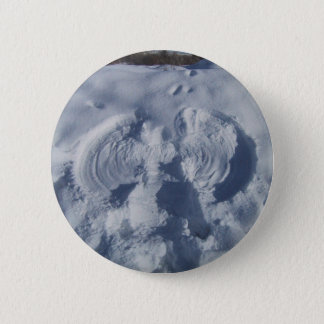 Angel On The Snow 2 Inch Round Button