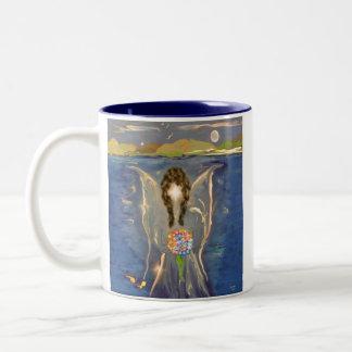 Angel On The Water Two-Tone Coffee Mug