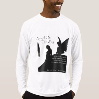 Angel On The Way Mens Sport Fitted Long Sleeve Tee