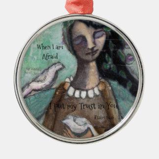 Angel Ornament with Psalm 56:3 When I am Afraid...