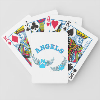 Angel Pet Paws In Blue Bicycle Playing Cards