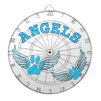 Angel Pet Paws In Blue Dartboard