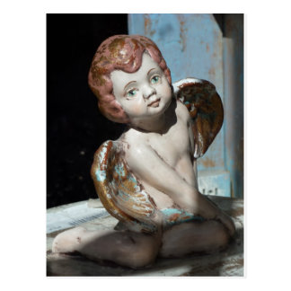 Angel photo vintage cherub postcard