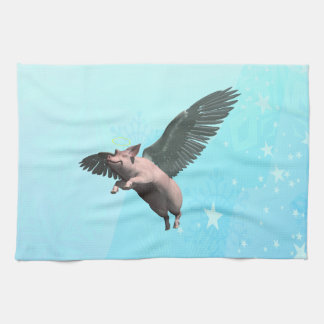 Angel Pig Kitchen Towel