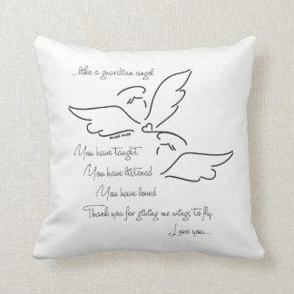 Angel pillow... Angel verse Throw Pillow