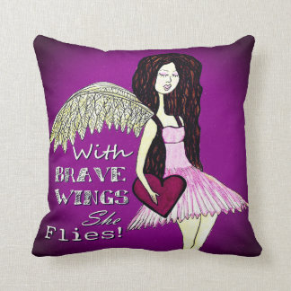 Angel Pillow  With Brave Wings She Flies
