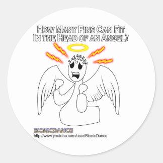 Angel Pinhead Classic Round Sticker