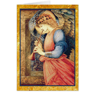 Angel Playing a Flageolet Fine Art Card