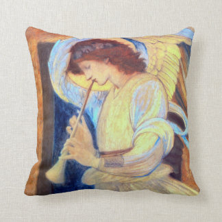 Angel Playing a Flageolet Throw Pillows