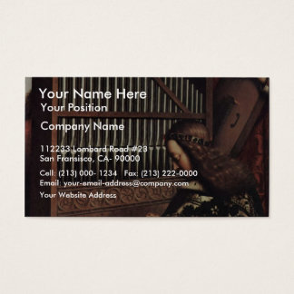 Angel Playing By Hubert Van Eyck (Best Quality) Business Card