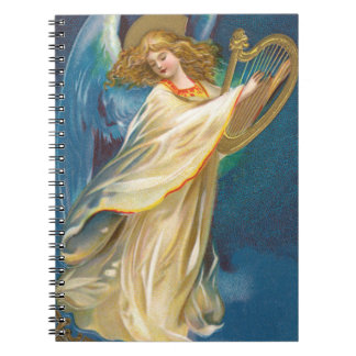 Angel Playing Harp Notebooks