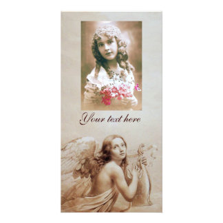 ANGEL PLAYING LYRA OVER THE CLOUDS PHOTO CARDS