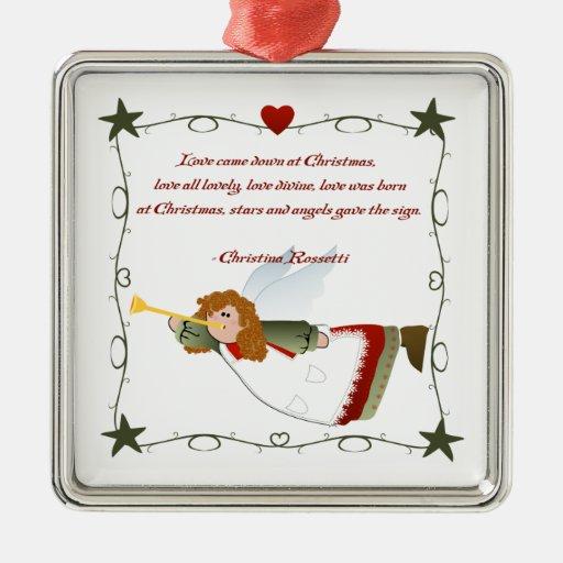 Angel Poem Christmas Ornament | Zazzle