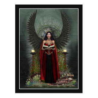 Angel Postcard - Dark Angel Protector