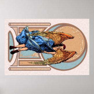 Angel Poster Art Nouveau