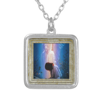 Angel Prayer Silver Plated Necklace