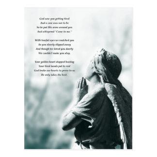 angel prayer sympathy cards postcard