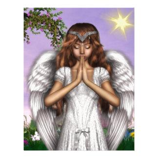 Angel Prayers Letterhead Template