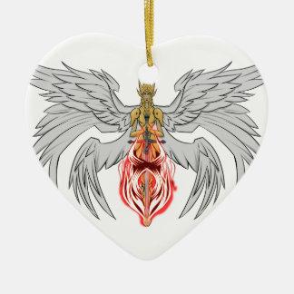 angel_queen_2 ceramic heart ornament