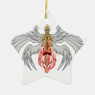 angel_queen_2 ceramic star ornament