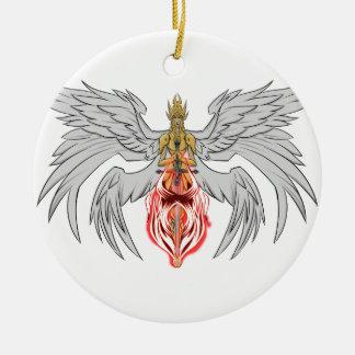 angel_queen_2 round ceramic ornament