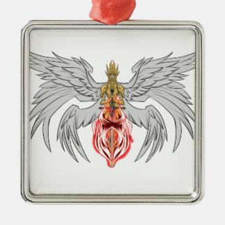 angel_queen_2 Silver-Colored square ornament