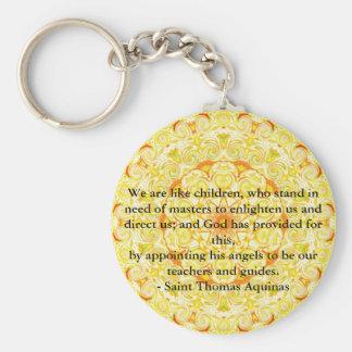 ANGEL quote inspirational Saint Thomas Aquinas Basic Round Button Keychain