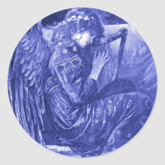 Angel Resting Classic Round Sticker