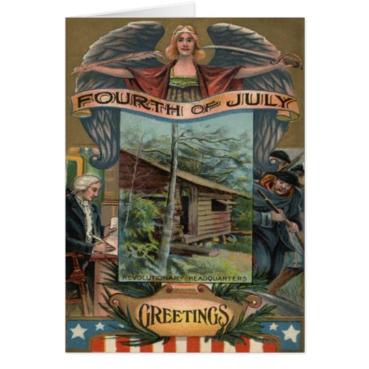 Angel Revolutionary War Cabin Soldiers Card