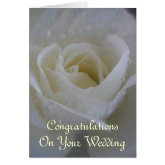 Angel Rose Wedding Card