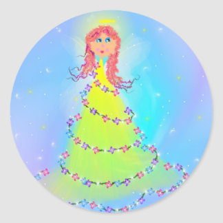Angel Round Sticker