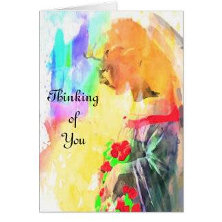 Angel Serene Greeting Card Thinking of You